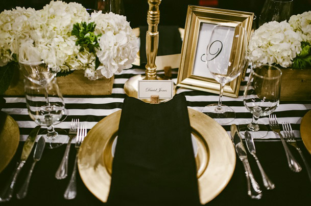 Black And White Wedding Decor The Newport Bride