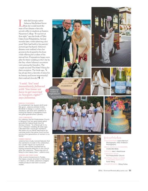 Newport Wedding Magazine 2015 Newport Wedding Magazine 2016.4