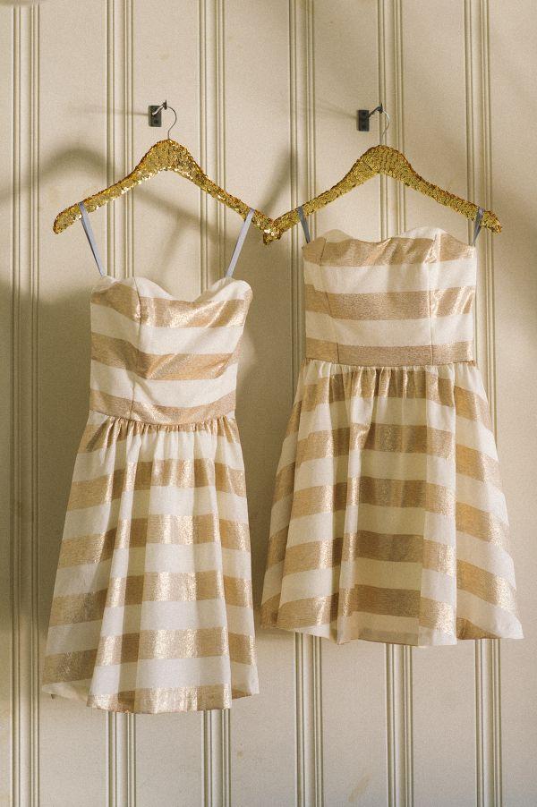 Gold Bridesmaid Dresses | The newport Bride