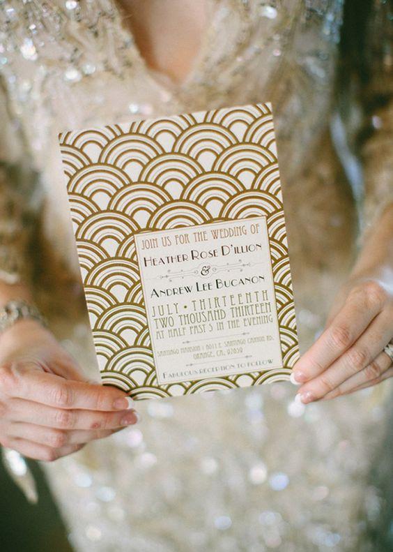 21 Stunning Art Deco Wedding Invitations
