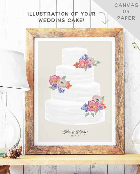 Wedding Cake Art | MBD Wedding Shop on Etsy 2