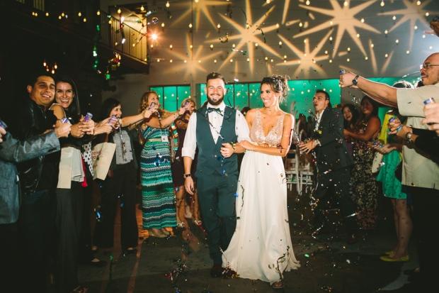 Streamers Grand Exit | The Newport Bride