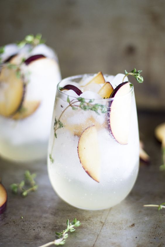 Plum and Thyme Proseco Smash | Favorite Fall Cocktails