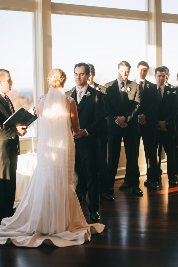 Colleen and Scott's OceanCliff Winter Wedding | The Newport Bride