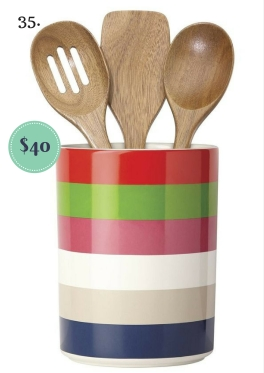 All in Good Taste Kate Spade Utensil Crock and Wooden Spoons on The Newport Bride's Holiday Gift Guide | The Newport Bride