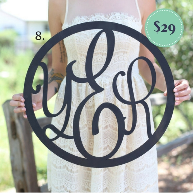 Monogram Wooden Wreath on the The Newport Bride Holiday Gift Guide   The Newport Bride