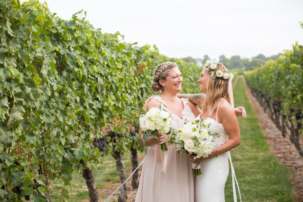 Whitney and Tyler's Newport Vineyard Wedding on The Newport Bride