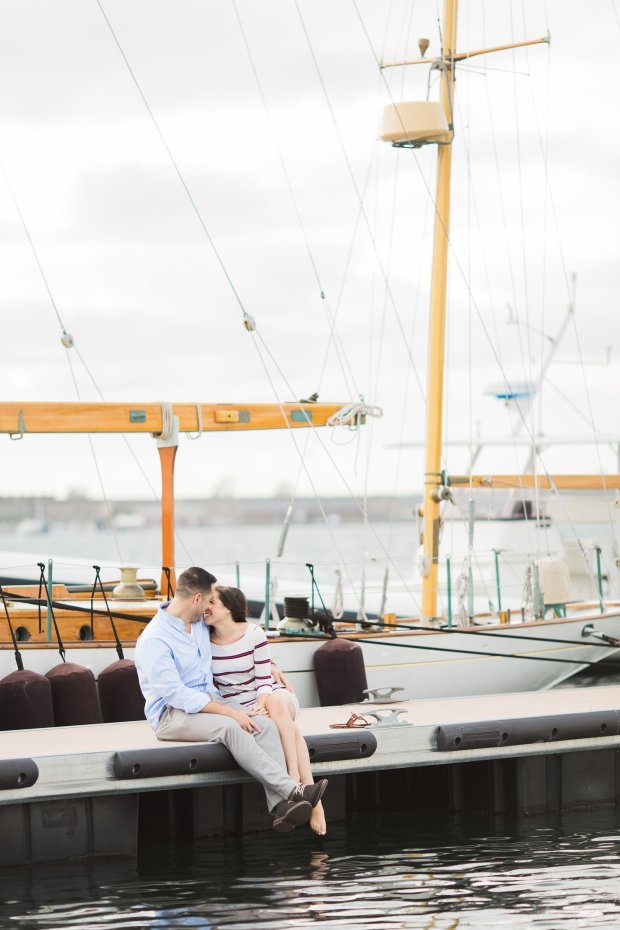 Brittany and Gary's Newport Engagement Photos on The Newport Bride