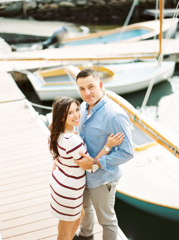 Brittany and Gary's Newport Rhode Island Engagement Photos on The Newport Bride
