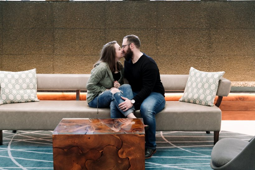 Julianna and Tyler's Anniversary Session at the Newport Marriott on The Newport Bride