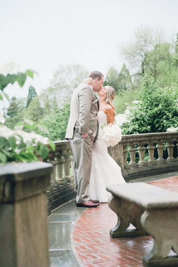 Summer Garden Wedding at a historic mansion in Bristol, RI on The Newport Bride
