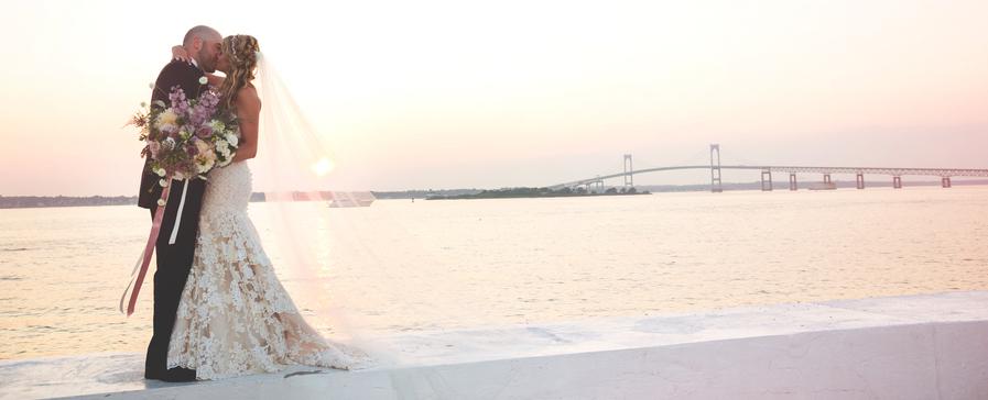 Samantha and Eric's Glamorous Sunset Wedding at Belle Mer